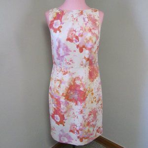 NEW ANN TAYLOR DRESS IVORY WATERCOLORS